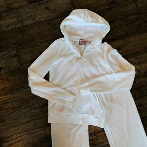 Juicy couture velour white track suit joggers
